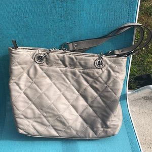 Gray Quilted Bag